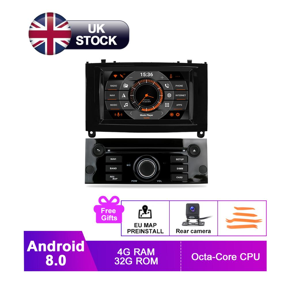 7 IPS Android 8 Auto Radio GPS For PEUGEOT 407 2004 2010 One Din DVD Navigation