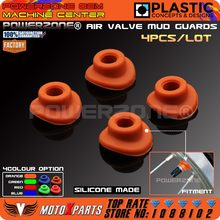 Orange silicone valvola dell'aria fango guardie bocca rondelle guarnizione per ktm exc EXCF SX SXF XC XCF XCW CRF YZF KXF Moto Dirt Bike(China)