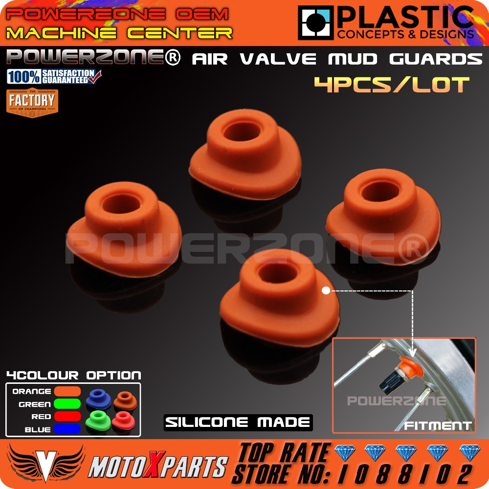 Orange Silicone Air Valve Mud Guards Mouth Washers Gasket For KTM EXC EXCF SX SXF  XC  X ...