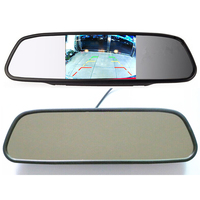 5inch HD Digital Car Mirror Monitor DC 12V car Monitor 5 HD 800*480 Color TFT LCD Car Rearview Mirror Monitor Roof