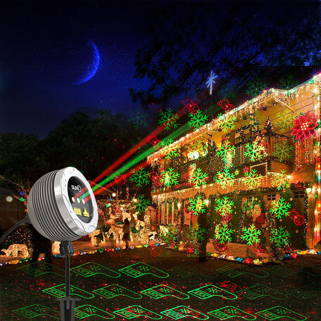rb led star laser lights christmas projector outdoor lighting laser projector landscape shower proyector led navidad