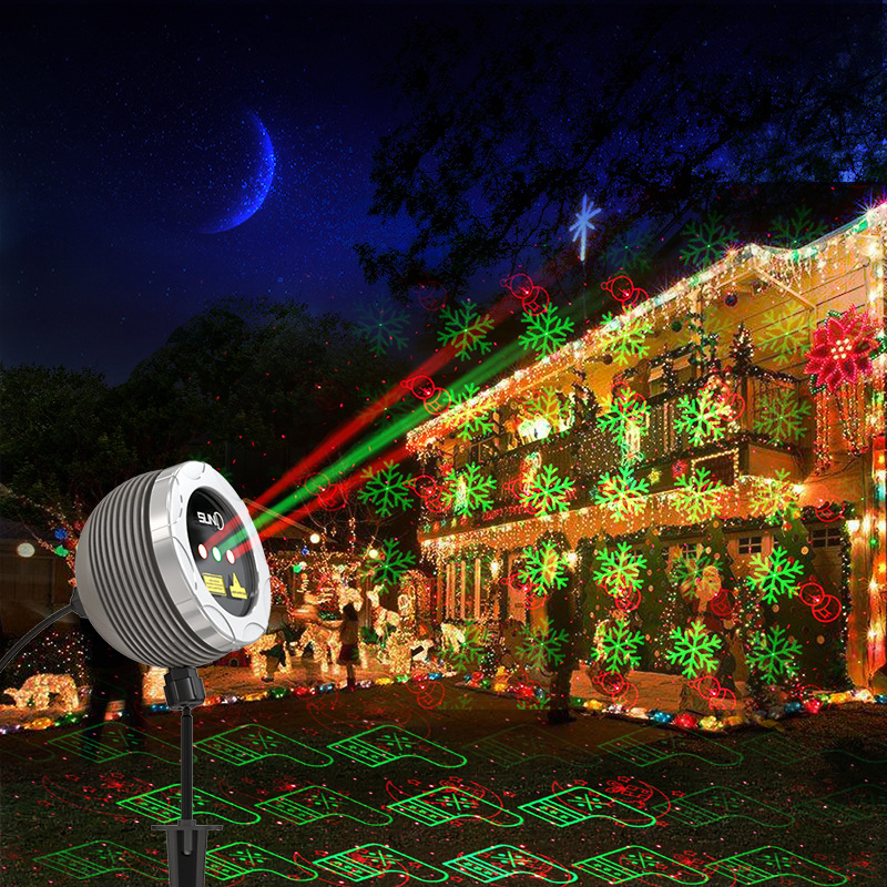 RB Led Star Laser Lights Christmas Projector Outdoor Lighting Laser Projector Landscape Shower proyector led navidad Party Light
