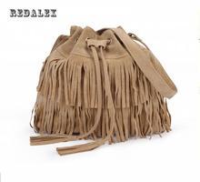 Large Capacity Tassel Women Bag Scrub Women Messenger Bags Bucket Crossbody Bags Hot Sale Shoulder Bag Sac Seau Femme