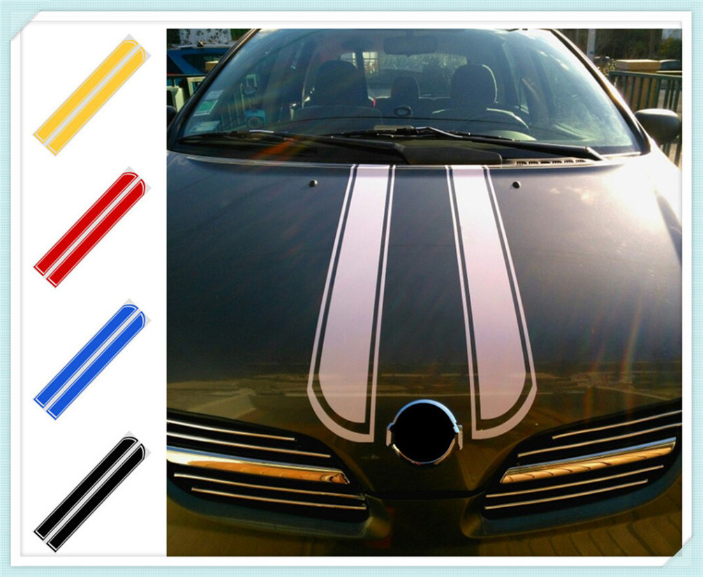 Car motorcycle styling <font><b>hood</b></font> decorative sticker cover DIY stripes for <font><b>Audi</b></font> I Ah Ah <font><b>A8</b></font> A3 A4 A6 A5 Q7 R A3 3-Door image