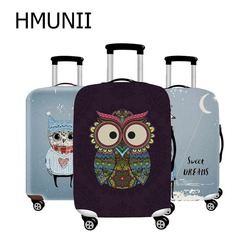 HMUNII New Fashion Brand Travel Thicken Elastic Luggage Suitcase Protective Cover, Apply To 18-32inch Cases, Travel Accessories