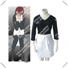 Halloween NARUTO Nohara Rin Cosplay Anime Cosplay Halloween Costumes Tops+Short Pants+Apron