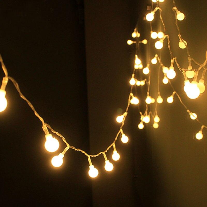 10M 50 <font><b>LED</b></font> Fairy Christmas lights wedding decoration waterproof <font><b>LED</b></font> ball Garland string lights lighting holiday party <font><b>lamps</b></font>