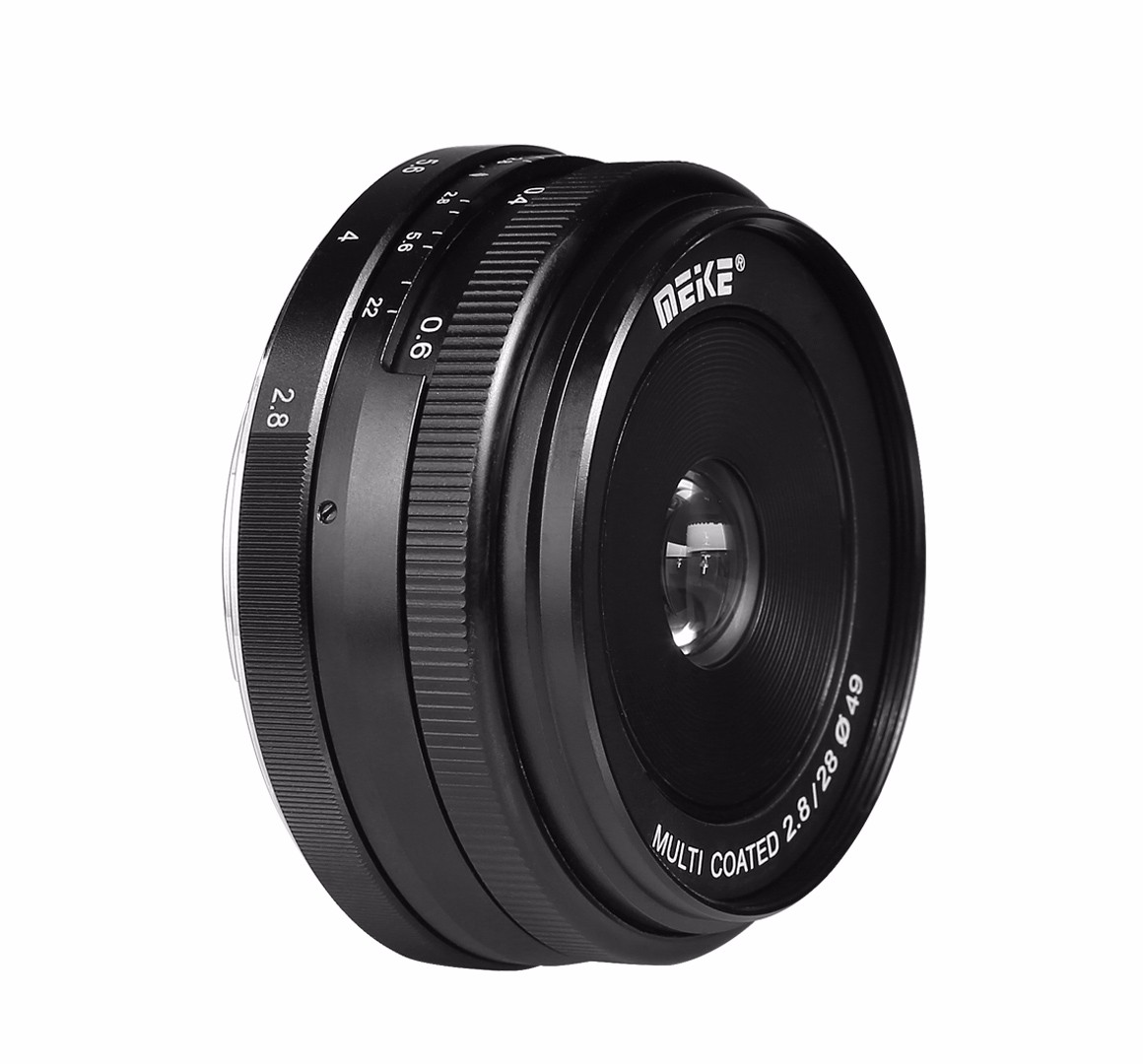 Meike MK-EF-M-28-2.8 28mm f/2.8 fixed manual focus lens for Canon EOS M1 M2 M3 ...