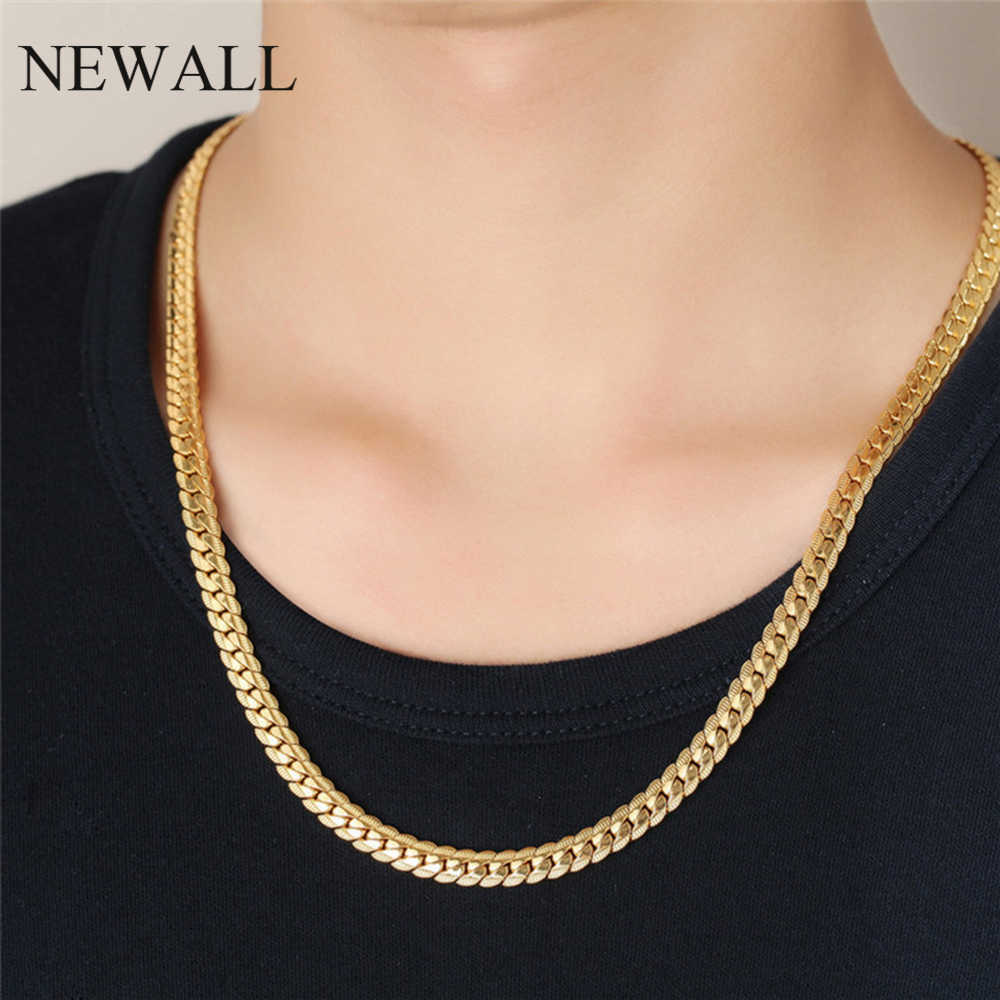 Newall men stainless steel chain necklace hip hop boyfriend gift for male Punk gothic style accessory best friend jewelry choker