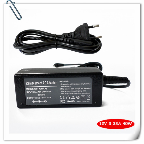 AC adapter Laptop Charger for Samsung AD-4012NHF tablet XE700T1C XE500T1C 12V 3.33A 40W 11.6 Chromebook Notebook + Power Cord