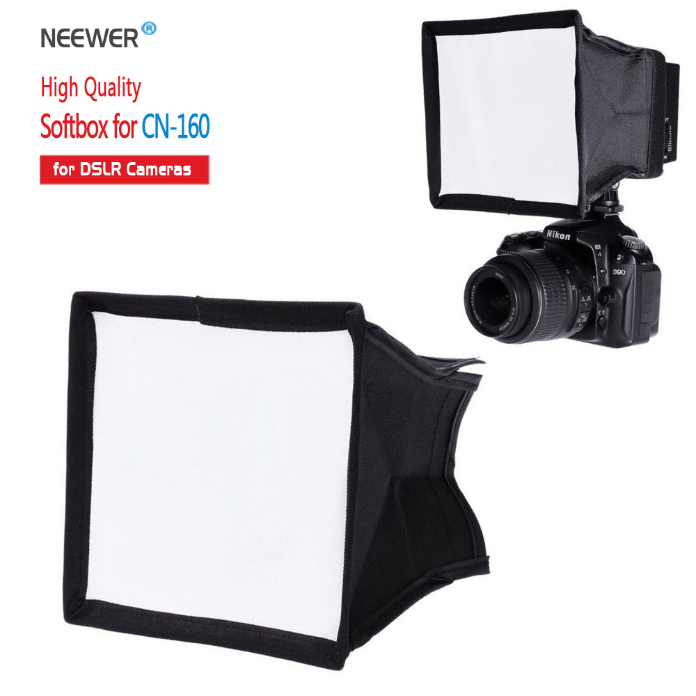 "Neewer 5,9 ""x6,7"" / 15x17 cm Câmera Difusor Dobrável Mini Softbox para CN-160 LED Flash Light"