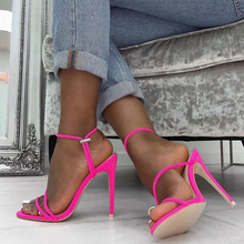Fashion Summer New Sexy Gladiator Sandals Shoes Women 12cm Thin High Heels Open Toe Lady Cross-tied Ankle Strap Shoes Size 36-41 недорого