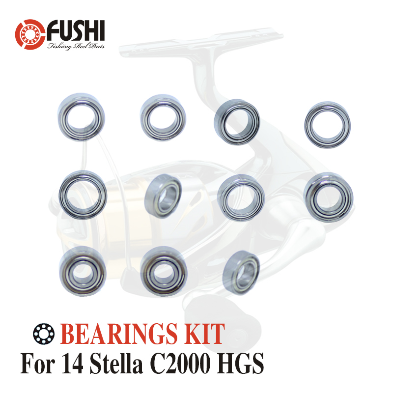 Fishing Reel Stainless Steel Ball Bearings Kit For Shimano 14 Stella C2000 HGS / 03240 Spinning reels Bearing Kits