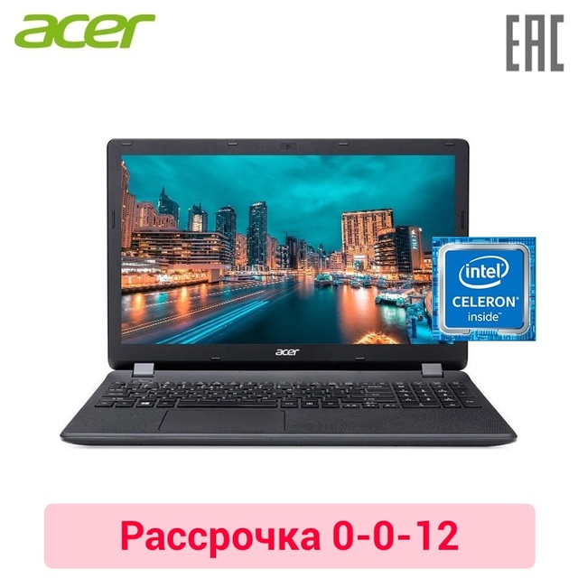 "Ноутбук acer EX2519-C5MB 15,6 ""HD/N3060/2 ГБ/500 ГБ/DVD/Windows10 NX. EFAER.056"