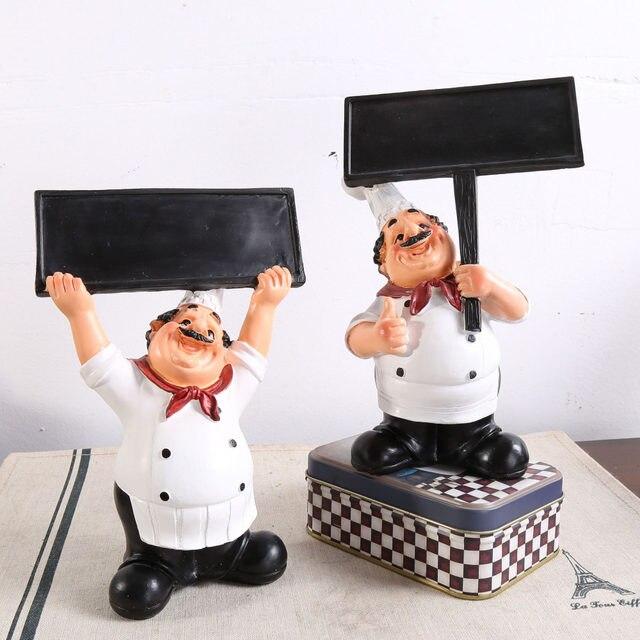 Online Shop Chef Resin Craft Vintage Home Decor Chef Welcome Signage ...