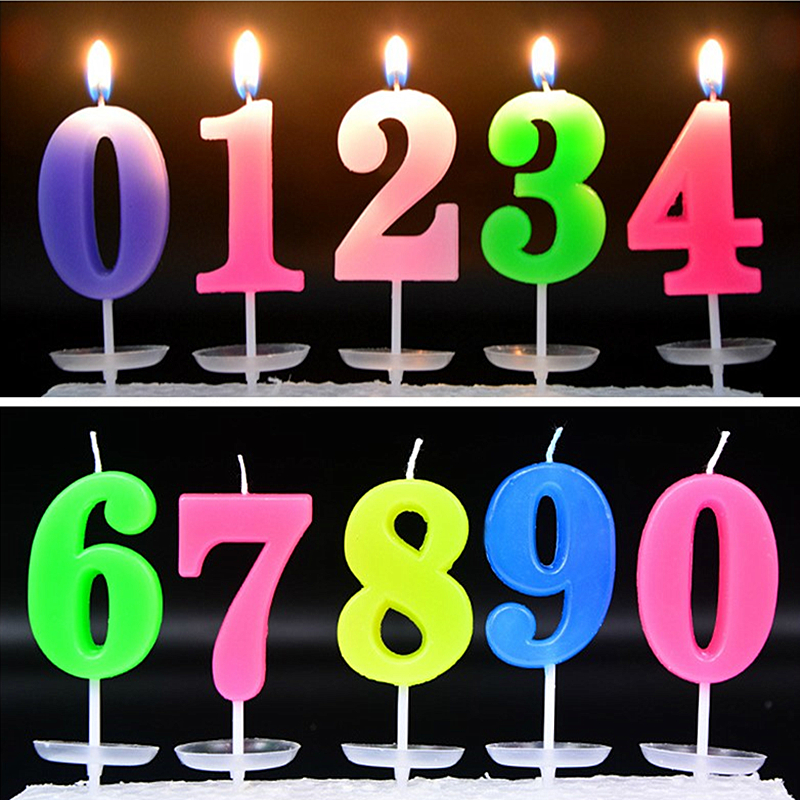 Admirable Number Candles 0 1 2 3 4 5 6 7 8 9 Candles Cupcake Topper Birthday Birthday Cards Printable Giouspongecafe Filternl
