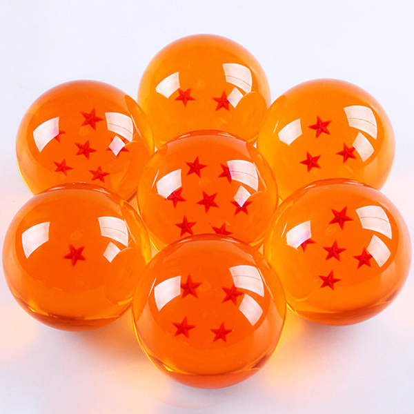 7Pcs/set Anime DRAGON BALL with Gift Retail Box 3.5CM Dragon Ball Z 7 Stars Action Figures Crystal Balls Collection Toys