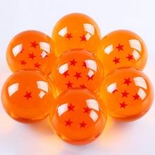 7 Unids/set Anime DRAGON BALL con el Regalo Caja Al Por Menor 3.5 CM Figuras de Acción de Dragon Ball Z 7 Estrellas Bolas De Cristal Juguetes de colección