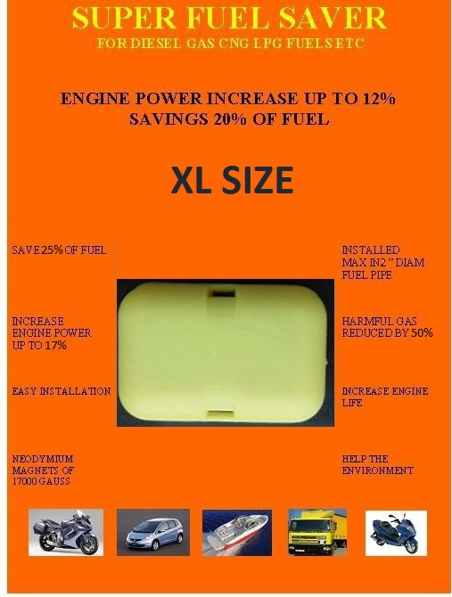 FREE SHIPPING FUEL SAVING DEVICE XL SIZE FOR CARS, MOTORCYCLES, BOATS, TRUCKS