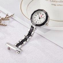 22c0662b470 Elegant Women's Nurse Pocket Watch Rose Gold Silver Brooch Clip Nursing  Doctor Ladies Clock Watch Steel