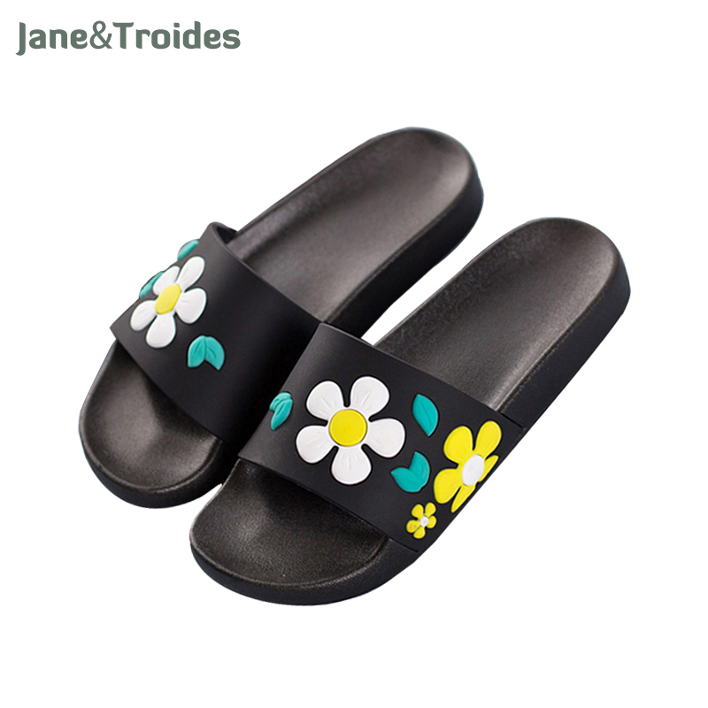 Summer home bathroom shower woman slippers floral cute for Bathroom safety shower shoes