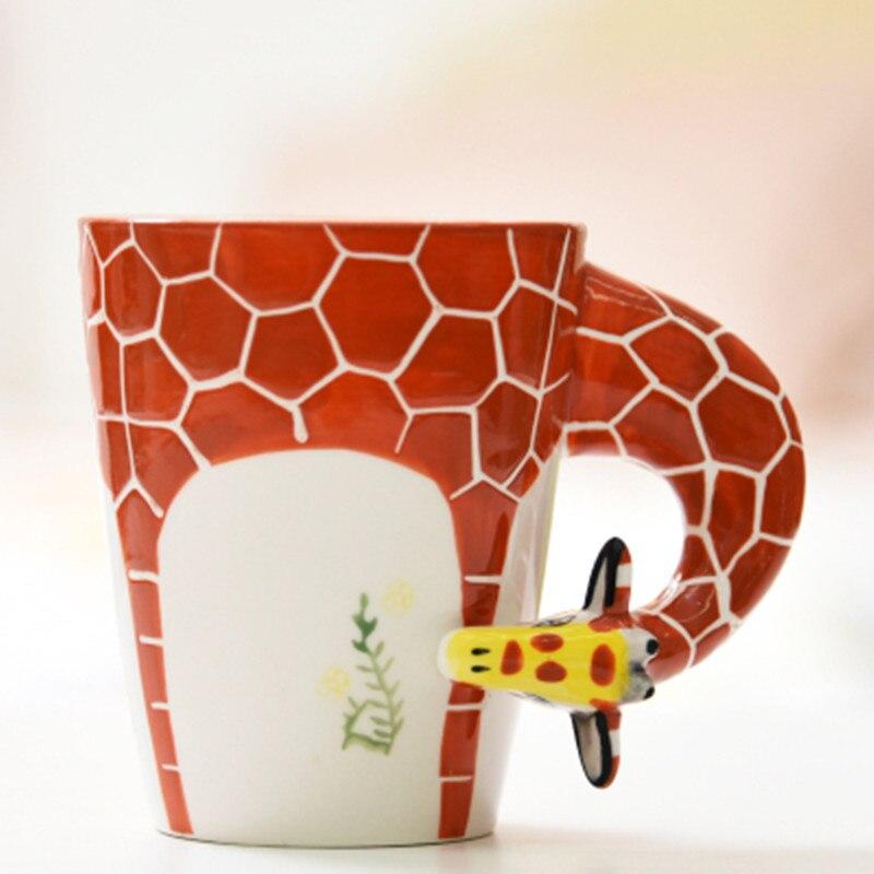 Lekoch 3D Tazze di Ceramica Tazza di Personalità Dipinta A mano Puro Animale Cane Scimmia Tazza Del Fumetto Della Tazza Dipinta Tazza di Caffè Di Natale regalo