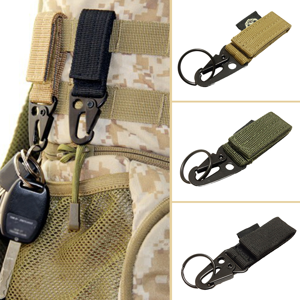 1 Pc Molle Key Ring Gear Nylon Keeper Keychain For Molle Bags Belt Webbing Attachment Strap