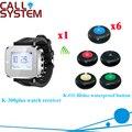 Беспроводной Официант Bell System Часы Пейджер Официантка Обслуживание Гостей И Водонепроницаемый Зуммер 433.92 МГЦ (1 часы + 6 кнопка вызова)