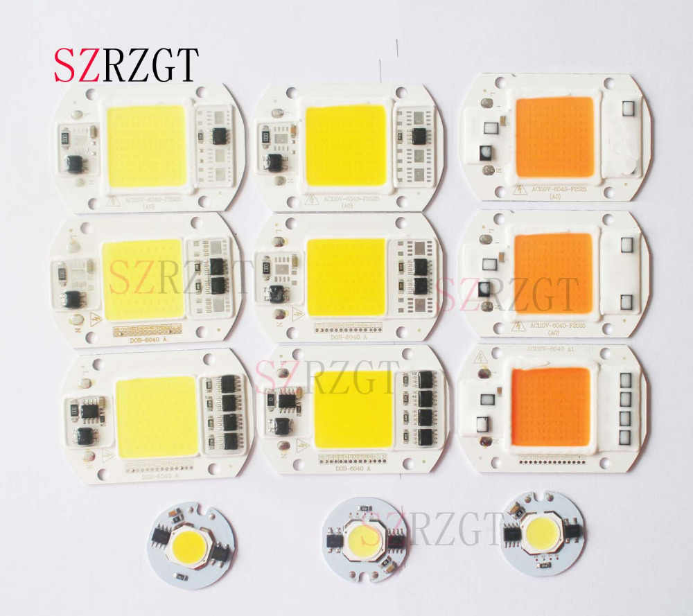 LED COB Chip 110V 220V 9W 10W 20W 30W 50W  LED Bulb Lamp Input Smart IC Flood Light Spotlight