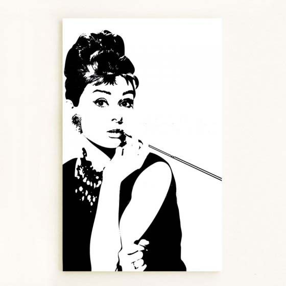Black And White 100% Hand Painted Audrey Hepburn Pop Art Wall Art Oil  Painting On Canvas High Quality Free Shipping In Painting U0026 Calligraphy  From Home ...