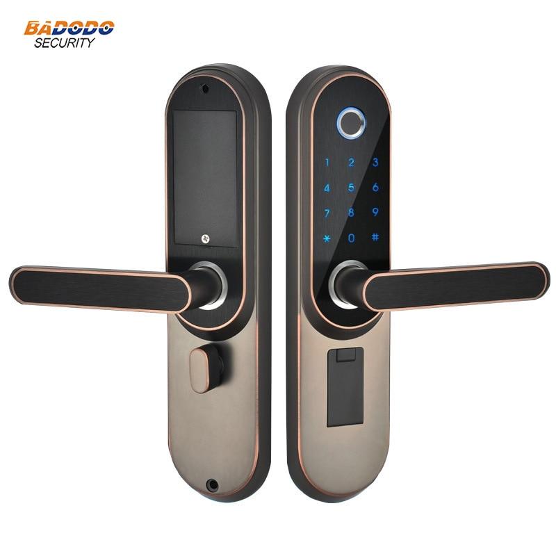 100% Wahr Fingerprint Lock Elektrische Passwort Türschloss Mit Ic Karte Optional Biometrische Elektrische Lock Für Indoor Holz Tür Unterscheidungskraft FüR Seine Traditionellen Eigenschaften