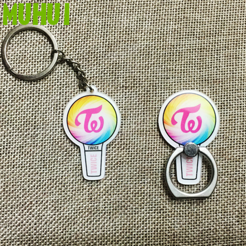 US $1 35 |Twice Light Stick Album Key Chain Acrylic Cartoon Keychain Key  Ring Pendant Case 360 Degree 18406-in Key Chains from Jewelry & Accessories