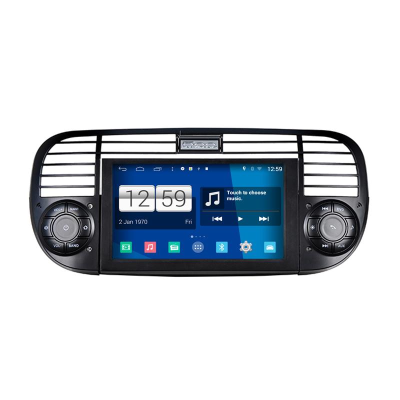 s160 android car audio for fiat 500 black and white frame available car dvd gps player. Black Bedroom Furniture Sets. Home Design Ideas