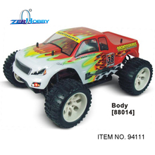 hsp rc car 1/10 scale electric brushed monster truck rc540 motor 7.2v 1800mAh battery included 94111 hsp rc car toys drift car 1 10 scale flying fish 4x4 on road electric powered brushed motor battery included item no 94123