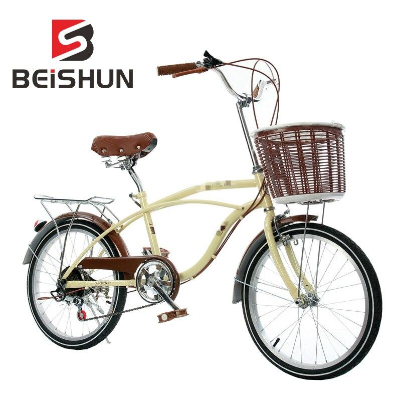 20 Inch Bicycle Retro Variable Speed Bicycle Ladies Student Leisure Bicycle Speed Bicycle