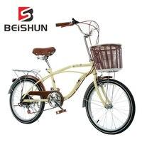 20 дюймов велосипед Ретро переменная скорость велосипед дамы студенческий Досуг велосипед скорость