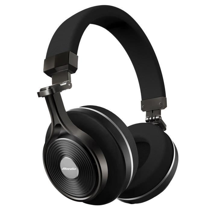 Bluedio T3 Bluetooth 4.1 au-dessus des écouteurs d'oreille casque pliable sans fil 3D stéréo casque de musique de basse profonde avec micro