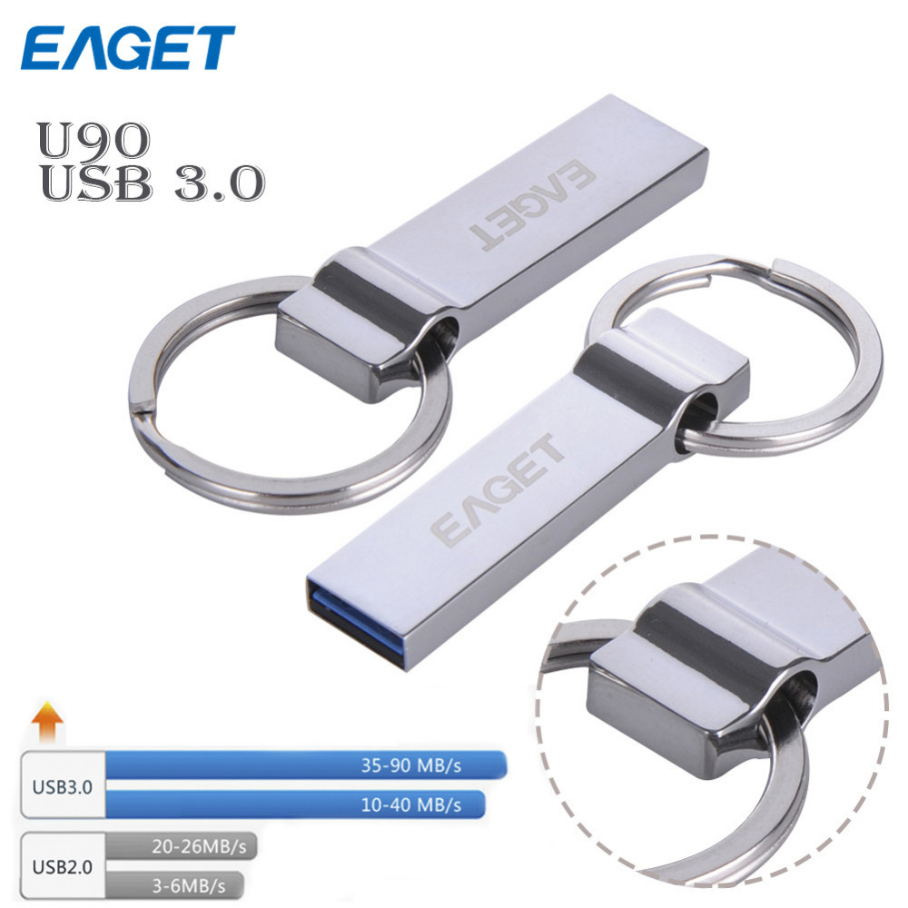 EAGET U90 usb 3 0 waterproof usb flash drive 16GB 32GB 64GB 128GB pen drive pendrive