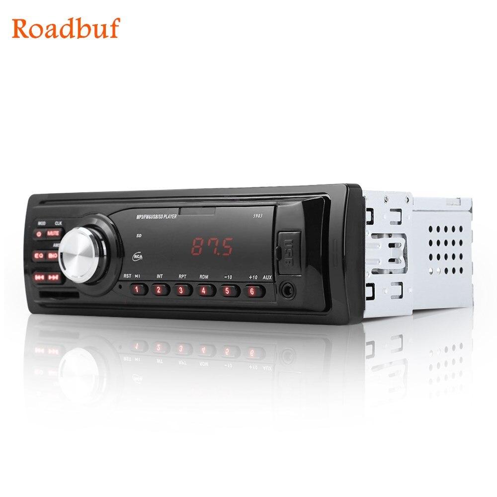 1Din Auto Radio Auto Audio Stereo 12 v Unterstützung FM SD AUX Usb-schnittstelle In-Dash 1 Din Auto MP3 Player Empfänger Gerät Handy Kostenlos