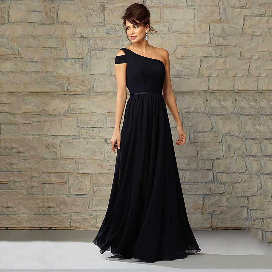 Popular Black Bridesmaid Dresses Long Sleeves Plus Size-Buy Cheap ...