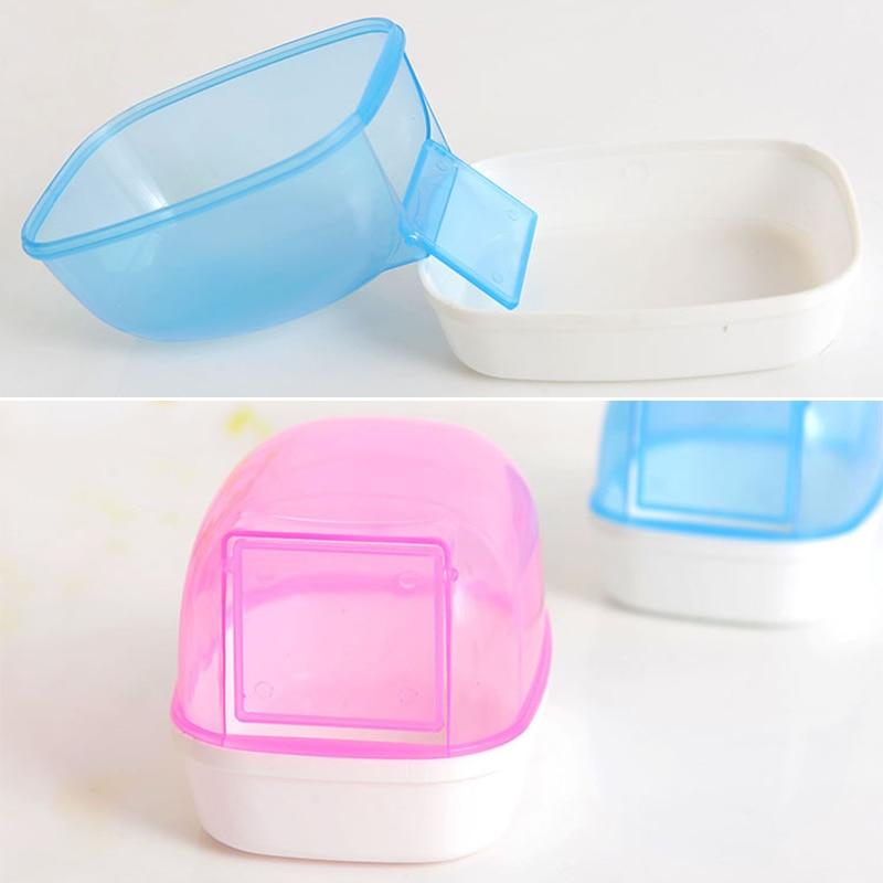 Plastic Ferret Bath Pool Pet Dust Sand Bathroom Shower Hamster Toilet Chinchilla Bathtub Bathing Box 12*9*9 Cm