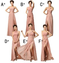Pink 2017 A-line Sweetheart Floor Length Chiffon Pleated Long Bridesmaid Dresses Cheap Under 50 Wedding Party Dresses