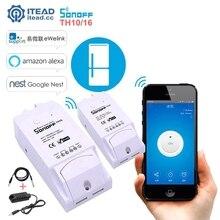 Sonoff TH10 TH16 Wifi Smart Switch Überwachung Temperatur Feuchte Sensor Wifi Schalter Automatisierung Arbeit Mit Alexa Google Hause