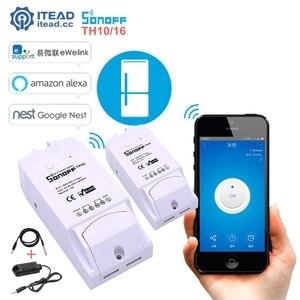 Image 1 - Sonoff TH10 TH16 Wifi Smart Switch Überwachung Temperatur Feuchte Sensor Wifi Schalter Automatisierung Arbeit Mit Alexa Google Hause