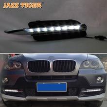 цена на For BMW E70 X5 2007-2010 No-error Daytime Running Light LED DRL Fog Lamp Driving Lamp Car Styling