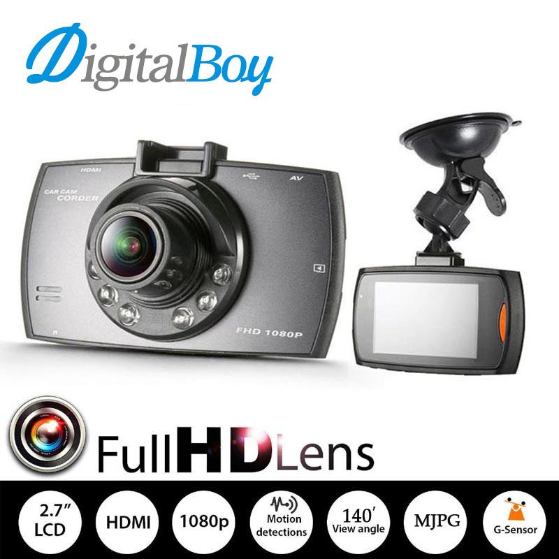 Prix pour Véritable Novatek 96220 voiture DVR Full HD 1080 P 2.7 polegada affichage Car enregistreur caméra Night Vision avec g-sensor enregistrement en boucle