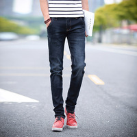 Dark Blue Solid Casual Spring Autumn Strech 2018 Skinny Jeans Men