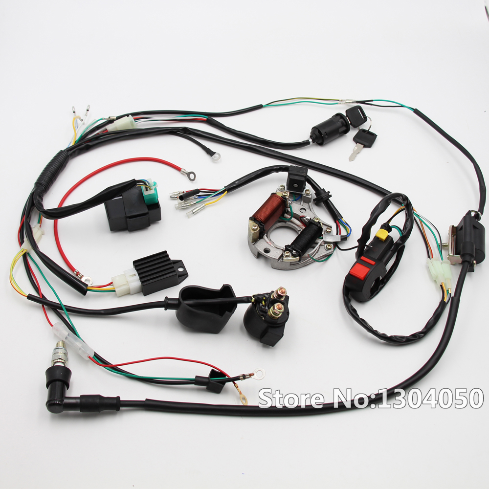 Complete Electrics Coil Cdi Magneto Stator Wiring Harness Atv Klx Motorcycle Looms 100 Brand New Electric Start Engine Loom For 50cc 110cc 125cc Pit Quad Dirt Bike Dune Buggy 70cc 90cc 4