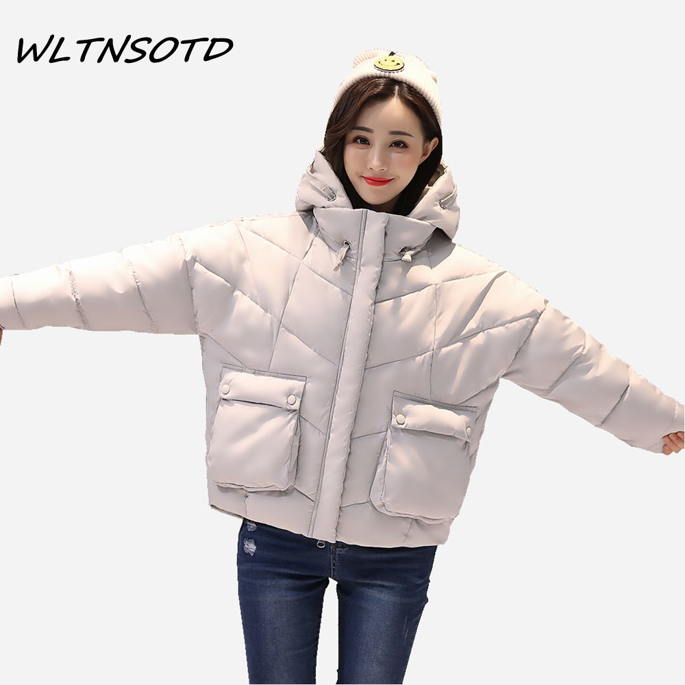 2017 new winter jacket for women large pocket solid warm coat female hooded thicker irregular cotton parkas padded jacket 2017 new winter coat for women slim black solid hooded long warm cotton parkas female thicker zipper red jacket padded
