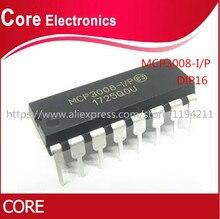 10 個 MCP3008 DIP16 MCP3008 I/p dip 16 dip オリジナル新